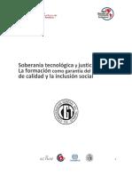 Soberanía tecnológica y justicia social