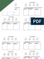 trabajo diario de matematicas
