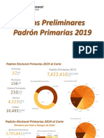 Datos Preliminares Padrón Primarias 2019