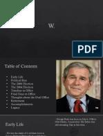 George W. Bush Final Project