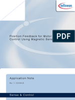 POSITION FEEDBACK FOR MOTOR CONTROL USING MAGNETIC SENSOR