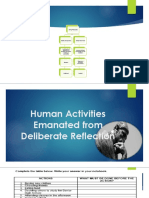 Human Activities From Deliberate Reflection