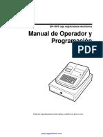 Manual de usuario y programacion de la caja registradora Sam4s ER-180T Espa¤ol