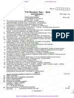 11th Accountancy First Revision Test 2019 Question Paper English Medium