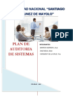 Plan de Auditoria Sistemas