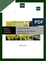 Guía de estudios para optar a master en derechos humanos