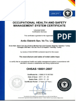 OHSAS 18001-2007 Occupational Health & Safety