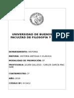 Historia Antigua II (Clásica) (Gallego-mac Gaw) - 2c 2019
