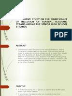 General Academic Strand Reseach Study