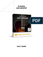 Evolution Jazz Archtop - User's Guide