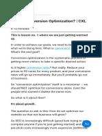 What is Conversion Optimization CXL
