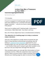 Customer Service Can Be a Treasure Trove of Ideas for CRO - MarketingExperiments