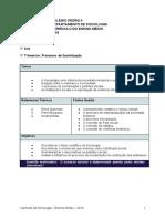 Programas de Sociologia - Colegio Pedro II Ensino Médio