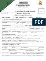 Planilla Inscripción Media General