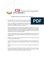RCSS/SSA statement on the election held on 7th November 2010 english