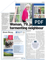 Nightmare neighbour front page story continued