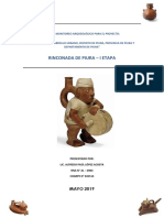 Plan de Monitoreo Arqueológico La Rinconada I - Piura - PERÚ