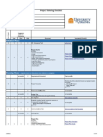 Project Tailoring Checklist Template