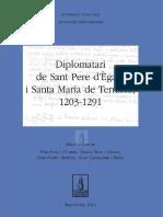 Puig Ustrell, Pere] Diplomatari de Sant Pere d'Ègara ISanta Maria de Terrassa, 1203 - 1291