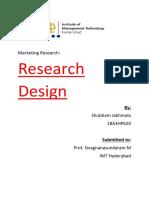 Research Design Classification