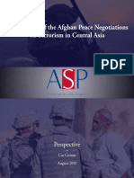 Implications of the Afghan Peace Negotiations on Terrorism in Central Asia