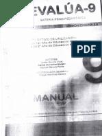 Manual Evalua 9 (2.0 Versión Chilena 2013) Sólo Baremos.