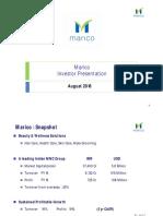 Marico Investor Presentation August16