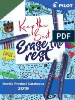 Pilot Nordic Product Catalog 2019 {Nordiska-katlogen-2019}