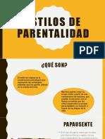 Estilos de parentalidad