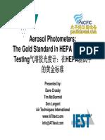 IEST - Photometers a Standard in HEPA Filtration