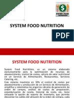 Presentación System Food Nutrition