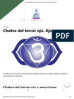 Chakra Del Tercer Ojo.