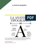 Anatomia de La Tipografia