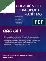 Creación del transporte marítimo-1