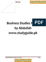 133985915 Business Studies Notes