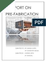 REPORT on Prefabrication