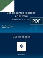 Los Recursos Hidricos en Peru