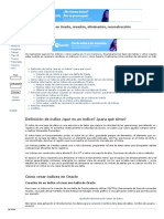 Los Índices en Oracle, Creación, Eliminación, Reconstrucción Proyecto AjpdSoft