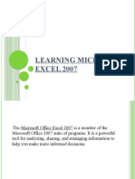 Learning Microsoft Excel 2007