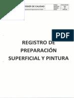 Registro de Preparacion Superficial y Pintura 2956