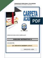 Carpeta Academica Analisis Matemático II