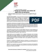 Nota de Prensa Anecop 01-2019