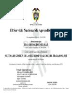 ejemplo de certificado del sena