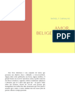 Amor, Beligerância, De Rafael F. Carvalho