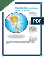 Ubicación de AMERICA CENTRAL en El Continente Americano y en El Mundo