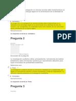 Evaluacion Inicial Unidad 1. Fundamentos de Investigacion