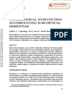 CUmmings - PSYCHOLOGICAL DYSFUNCTION  ACCOMPANYING SUBCORTICAL  DEMENTIAS