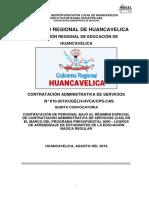 CONTRATACIÓN ADMINISTRATIVA DE SERVICIOS N° 010-2019/UGELH-HVCA/CPS-CAS QUINTA CONVOCATORIA   CONTRATACIÓN DE PERSONAL BAJO EL RÉGIMEN ESPECIAL DE CONTRATACIÓN ADMINISTRATIVA DE SERVICIOS (CAS) EN EL MARCO DEL PROGRAMA PRESUPUESTAL 0090 - LOGROS DE APRENDIZAJE DE ESTUDIANTES DE LA EDUCACIÓN BÁSICA REGULAR