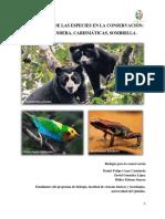 Importancia de Las Especies en La Conservacion