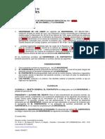 Modelo Contrato de Prestacion de Sevicios UA